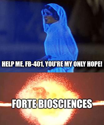 Help me FB401 Forte Biosciences meme
