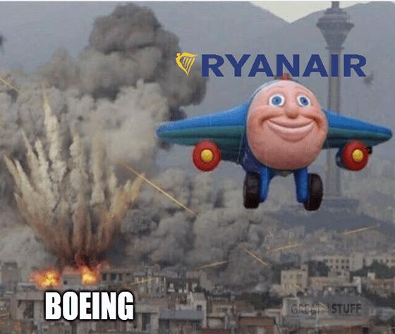 Ryanair Boeing budget don't need more planes meme big