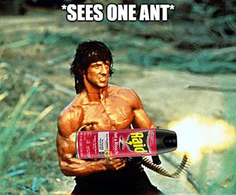 Terminix TMX upgrade sees one ant Rambo meme