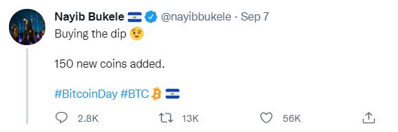 nayib bukele tweet bitcoin day