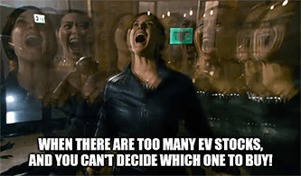 Too many EV stocks Matrix meme