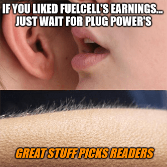 If you liked FuelCell's earnings wait Plug Power meme