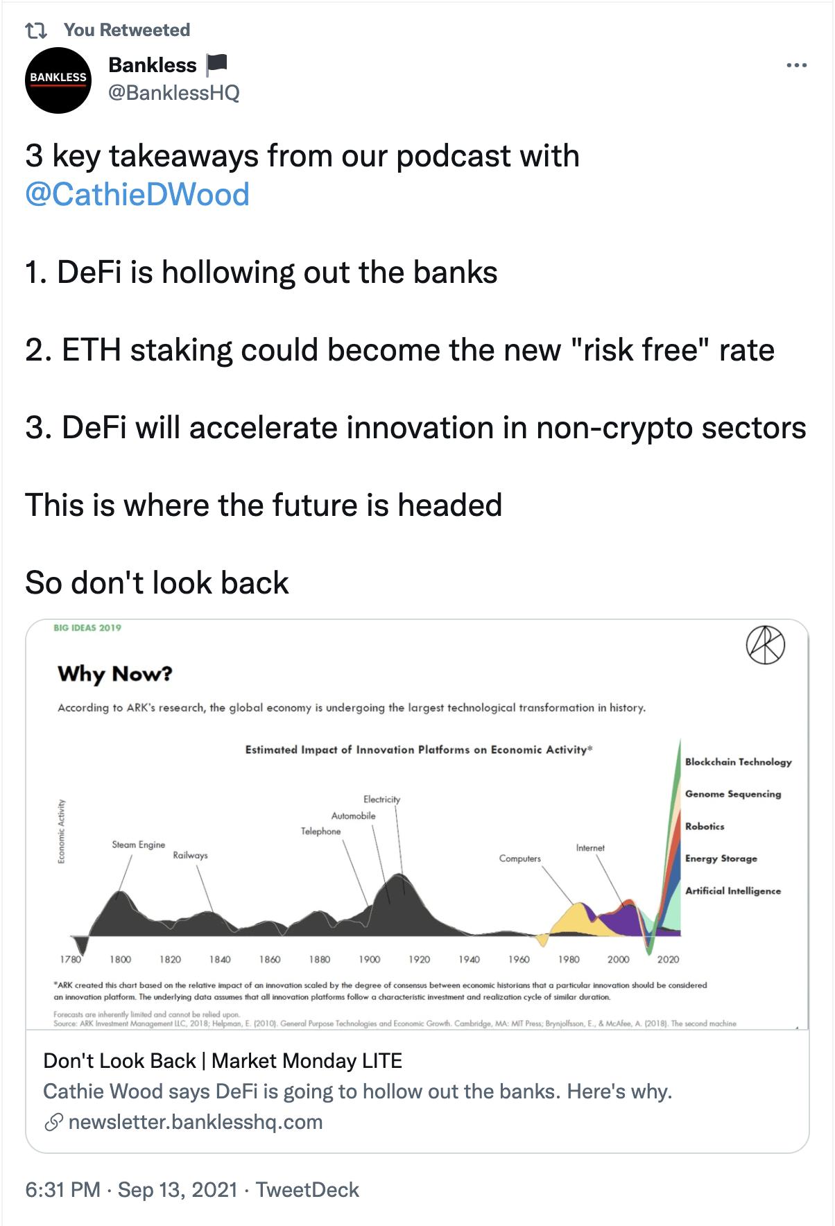 Bankless tweet