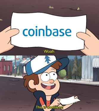 Coinbase Useless Meme