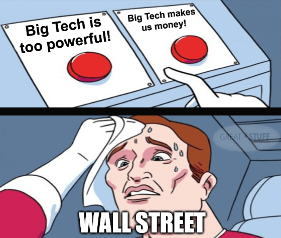 Big Tech Too Powerful Red Button Meme Big