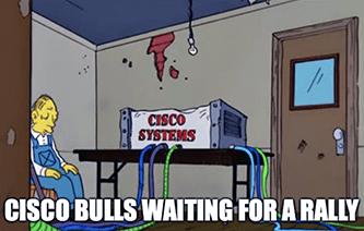 Cisco Systems Simpsons Bull Rally Meme