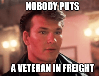 nobody puts a veteran in freight cargo plane meme
