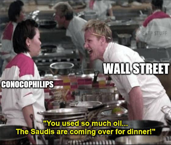 Conoco Phillips buying oil Permian Basin meme big
