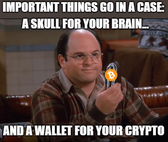 Important things case Crypto wallet Robinhood Costanza meme big