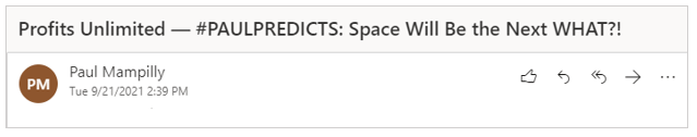 profits unlimited space prediction