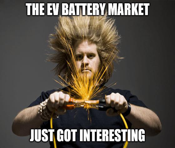 EV Battery market just got interesting meme big