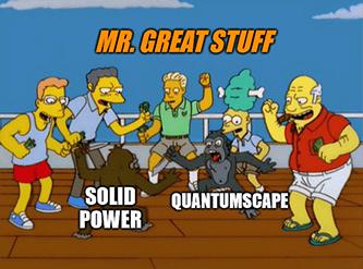 QuantumScape vs Solid Power monkey fight meme