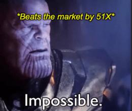 Beats market 51X impossible meme