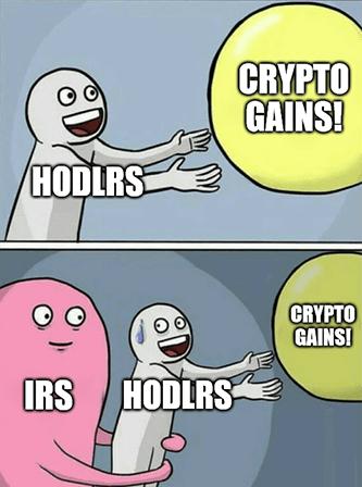 Crypto Gains IRS Hodlrs Meme