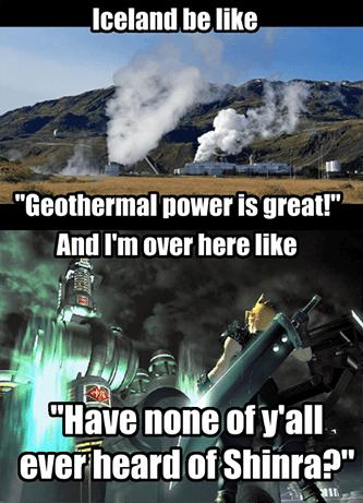 Geothermal Power Iceland Shinra Meme