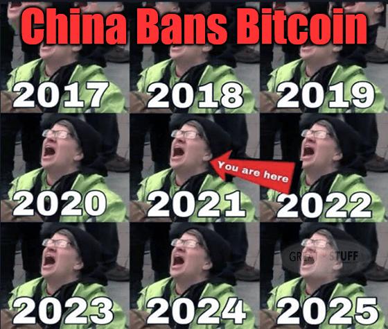 China bans bitcoin (again) 2021 you are here meme big
