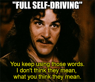 Full self-driving keep using words Tesla don't think they mean meme