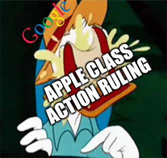 Google Apple Class action ruling lower charge meme