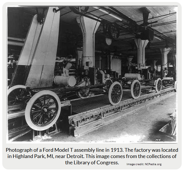 ford model t assembly line 1913