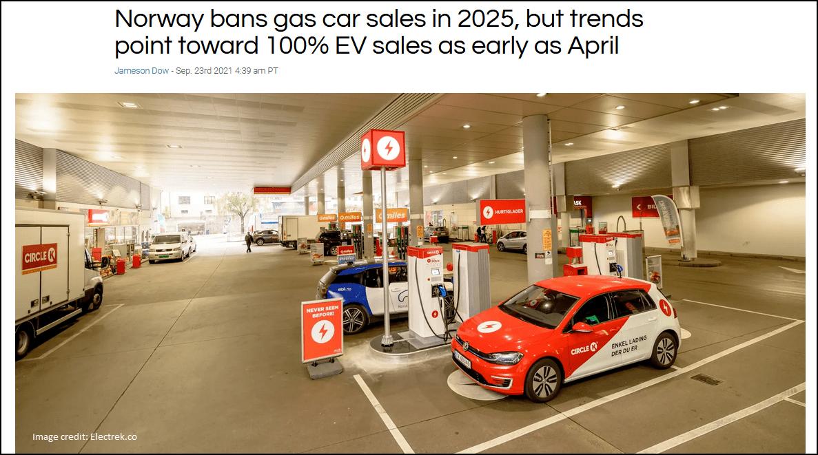 norway bans car sales