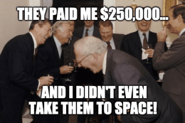 Virgin Galactic Didn't Go To Space Guys Laughing Meme