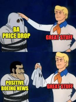 BA Price Drop Scooby Meme