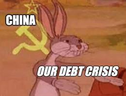 China Debt Crisis Communist Bugs Meme