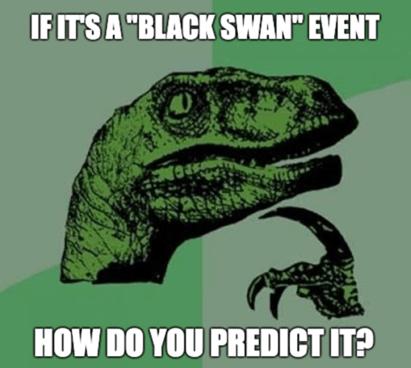 Black Swan Event Prediction Philosoraptor Meme