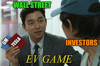 The EV Game Tesla vs. GM meme