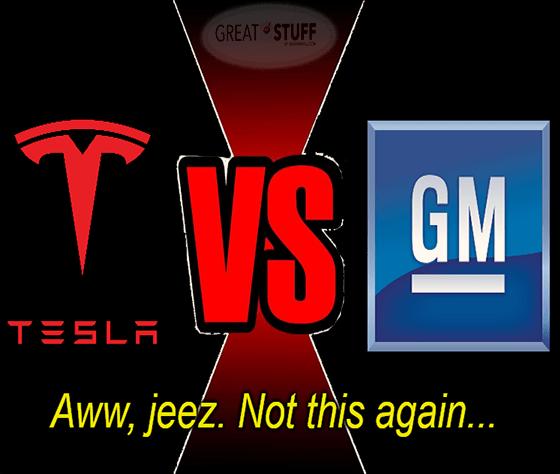 Tesla vs GM the Wood chuck edition again meme big