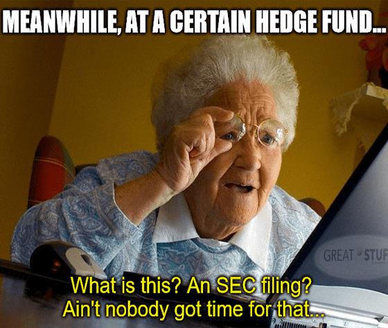 Blue Orca SEC Filing Squinting Grandma Meme Big