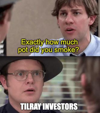 Tilray Smoking Pot The Office Dwight Meme