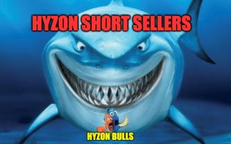 Hyzon short sellers Hyzon bulls Finding Nemo shark meme