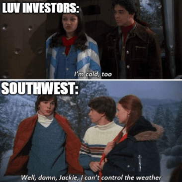 Luv investors 70s show can't control the weather meme