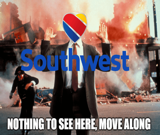Nothing to see here move along LUV Southwest cancelations meme big