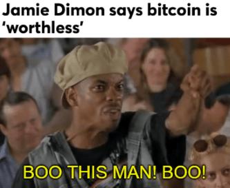 Jamie Dimon Boo Bitcoin Meme