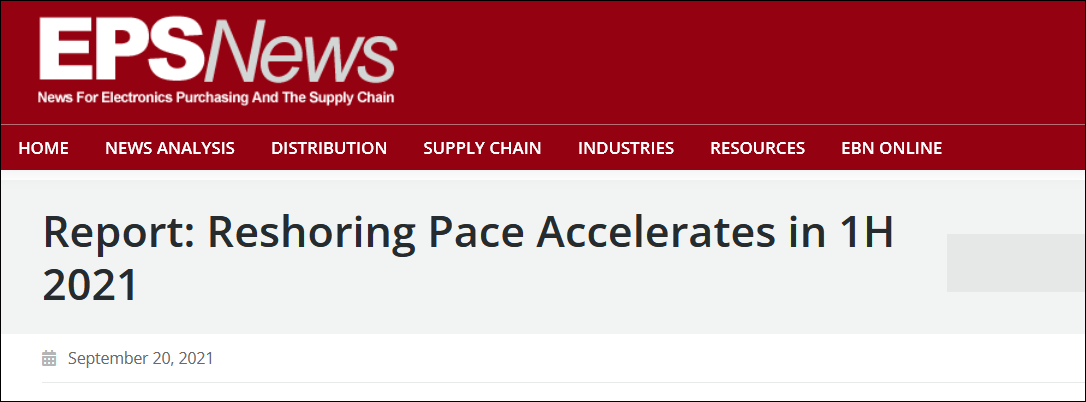 reshoring pace accelerates in 1h